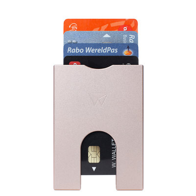 SW403 Walter Wallet Slim Wallet Aluminium 4 cards - Rose Gold