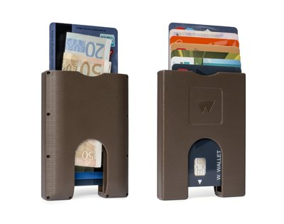 WW003 Walter Wallet Kunststof Paper Brown