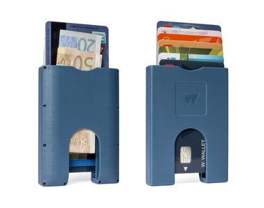 WW004 Walter Wallet Kunststof True Blue